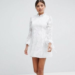 Asos High Neck Lace Detail Shift Dress Worn Once